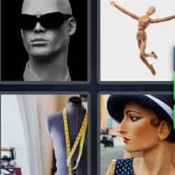 4 Pics 1 Word 9 Letters Mannequin