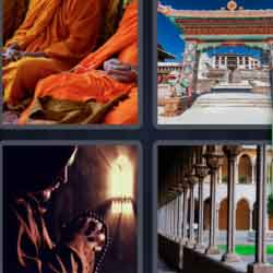 4 Pics 1 Word 9 Letters Monastery