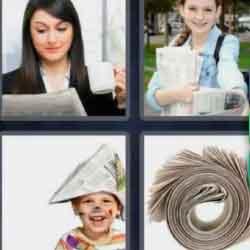 4 Pics 1 Word 9 Letters Newspaper