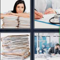 4 Pics 1 Word 9 Letters Paperwork