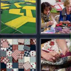 4 Pics 1 Word 9 Letters Patchwork