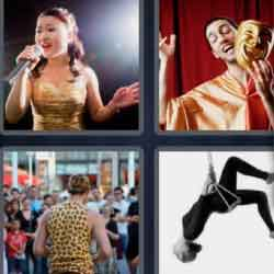 4 Pics 1 Word 9 Letters Performer
