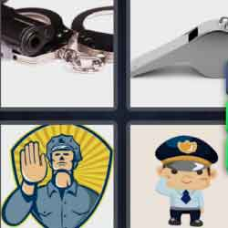 4 Pics 1 Word 9 Letters Policeman