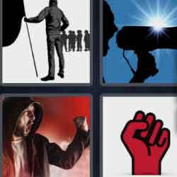 4 Pics 1 Word 9 Letters Protester