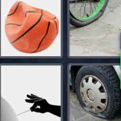 4 Pics 1 Word 9 Letters Punctured