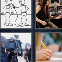 4 Pics 1 Word 9 Letters Recording