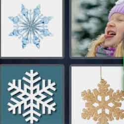 4 Pics 1 Word 9 Letters Snowflake