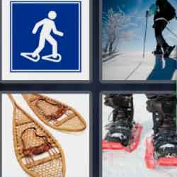 4 Pics 1 Word 9 Letters Snowshoes