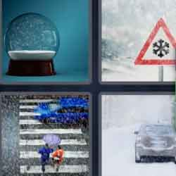 4 Pics 1 Word 9 Letters Snowstorm
