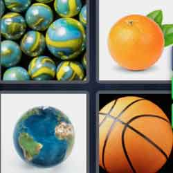 4 Pics 1 Word 9 Letters Spherical