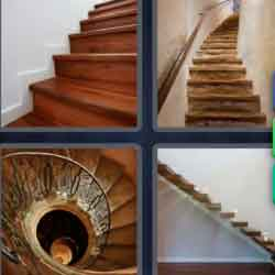 4 Pics 1 Word 9 Letters Staircase