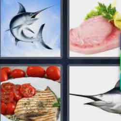 4 Pics 1 Word 9 Letters Swordfish