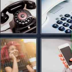 4 Pics 1 Word 9 Letters Telephone