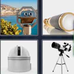 4 Pics 1 Word 9 Letters Telescope