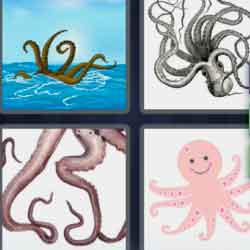 4 Pics 1 Word 9 Letters Tentacles