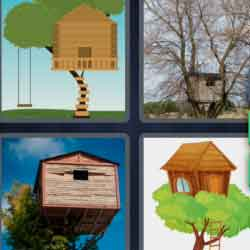 4 Pics 1 Word 9 Letters Treehouse
