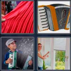 4 Pics 1 Word 9 Letters Accordion
