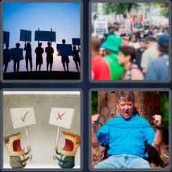 4 Pics 1 Word 9 Letters Activists