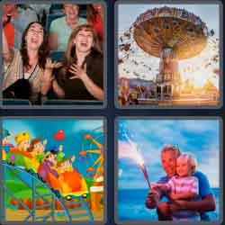 4 Pics 1 Word 9 Letters Amusement