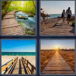 4 Pics 1 Word 9 Letters Boardwalk