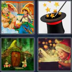 4 Pics 1 Word 9 Letters Enchanted