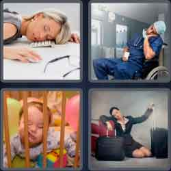 4 Pics 1 Word 9 Letters Exhausted