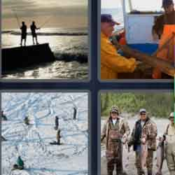 4 Pics 1 Word 9 Letters Fishermen