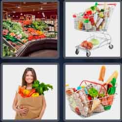 4 Pics 1 Word 9 Letters Groceries