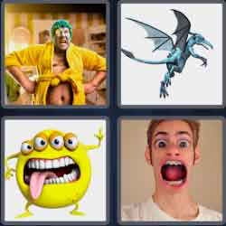 4 Pics 1 Word 9 Letters Grotesque