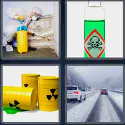 4 Pics 1 Word 9 Letters Hazardous