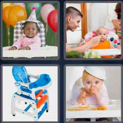 4 Pics 1 Word 9 Letters Highchair