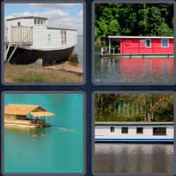 4 Pics 1 Word 9 Letters Houseboat