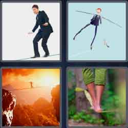 4 Pics 1 Word 9 Letters Level 3691 Tightrope
