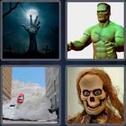 4 Pics 1 Word 9 Letters Monstrous
