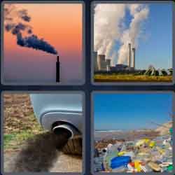 4 Pics 1 Word 9 Letters Pollution