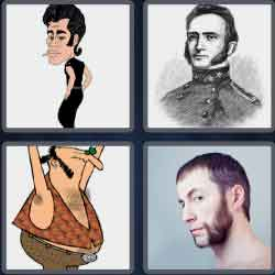 4 Pics 1 Word 9 Letters Sideburns