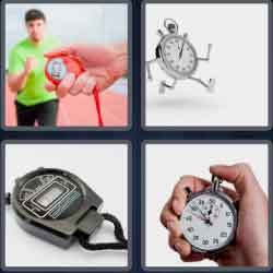 4 Pics 1 Word 9 Letters Stopwatch