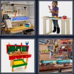 4 Pics 1 Word 9 Letters Workbench