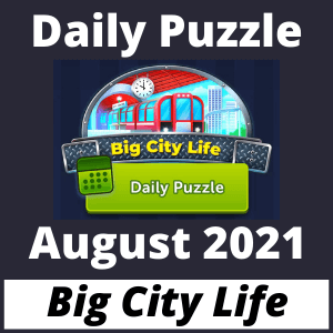 Daily puzzle Big City Life August 2021