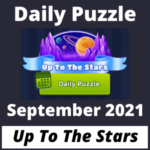 Daily puzzle Up to the Stars September 2021